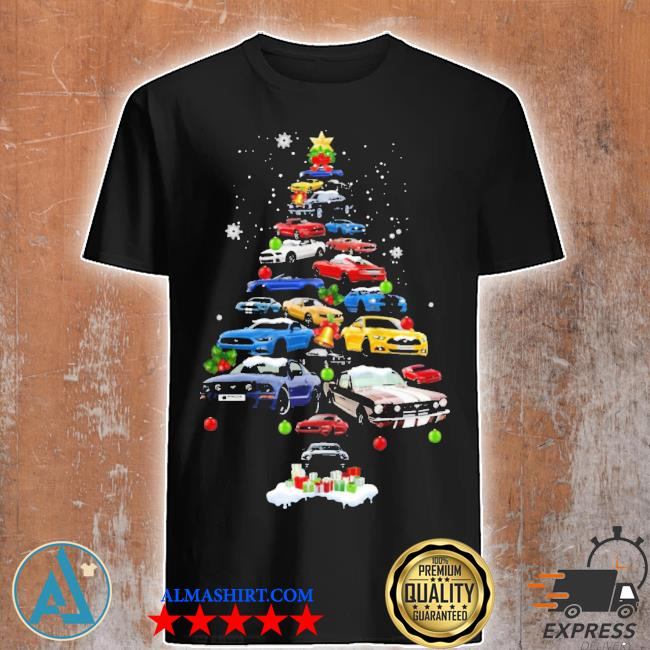 Mustang car Christmas tree sweater