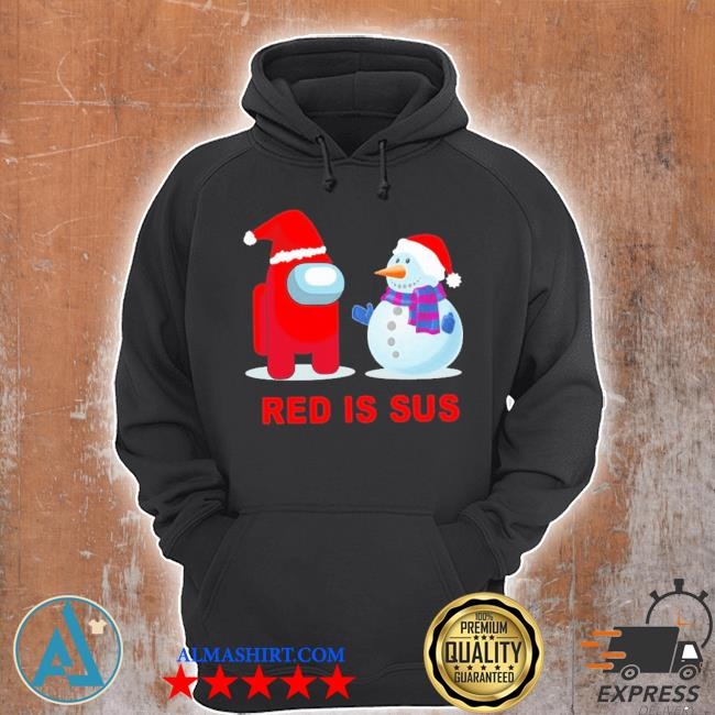 Red is sus among us christmas sweater Unisex Hoodie