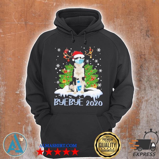 Santa bernese mountain dog face mask bye bye 2020 merry Christmas tree sweater Unisex Hoodie