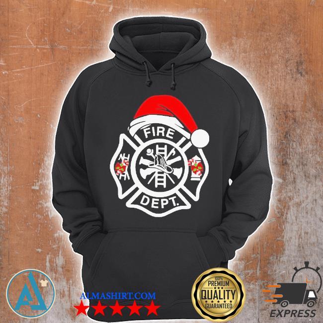 Santa fire dept merry Christmas sweater Unisex Hoodie
