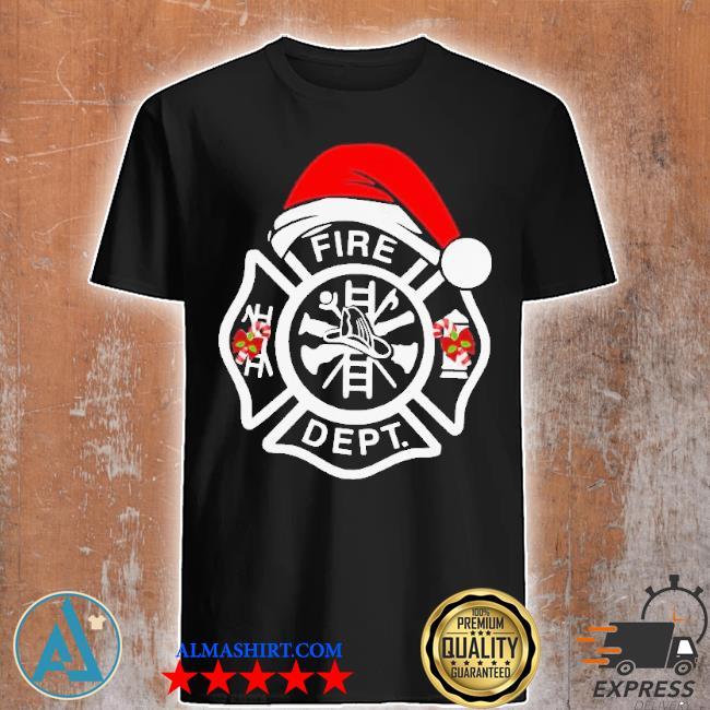Santa fire dept merry Christmas sweater