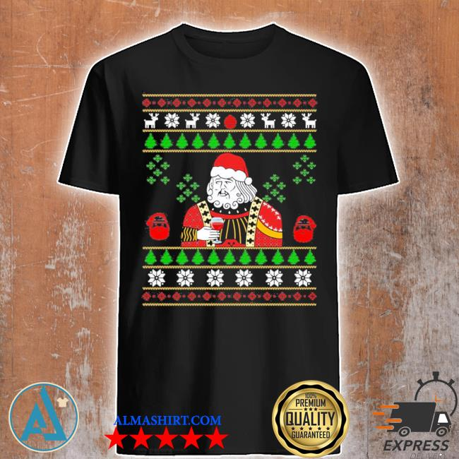 Santa leonardo big fat jumper ugly christmas sweater