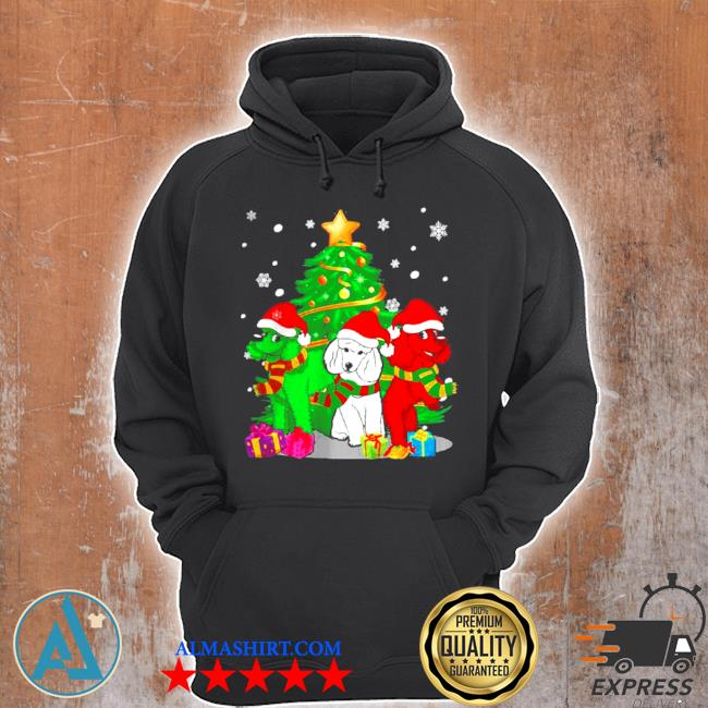 Santa poodle dogs Christmas 2020 sweater Unisex Hoodie