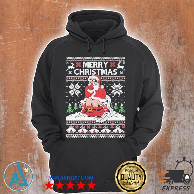 Santa toilet ugly Christmas sweater Unisex Hoodie