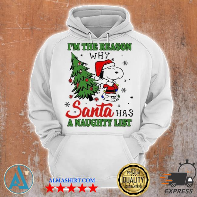 Snoopy i'm the reason why santa has a naughty list Christmas sweater Unisex Hoodie