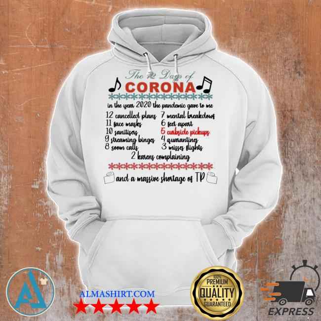 The 12 days of corona Christmas sweater Unisex Hoodie