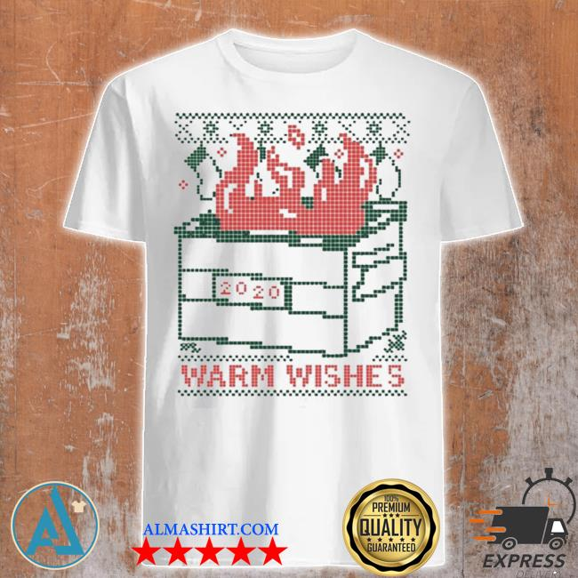Warm wishes dumpster fire ugly christmas sweater