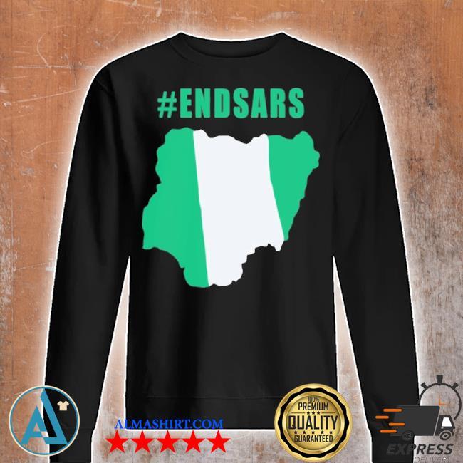 #endsars shirt #endbadgoveranceinnigeria protesting against police brutality in nigeria s Unisex sweatshirt