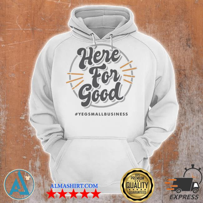 'here for good' gray s Unisex Hoodie