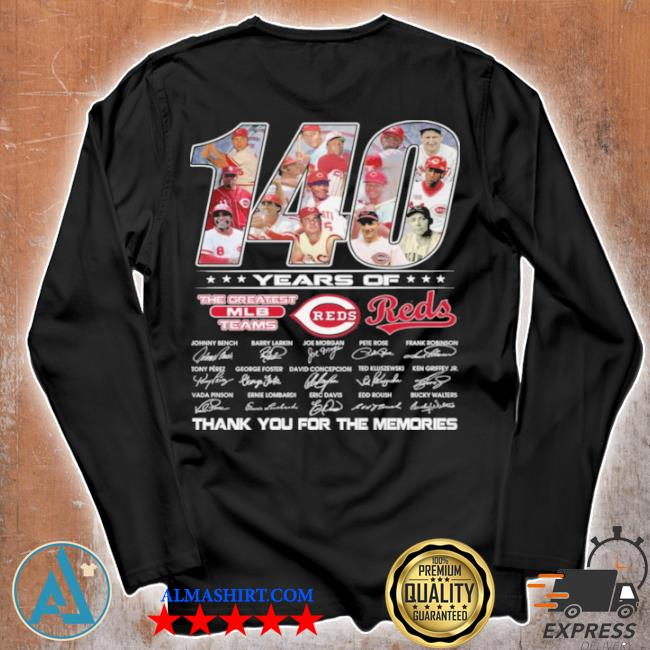 140 years of the greatest teams reds signature s Unisex longsleeve