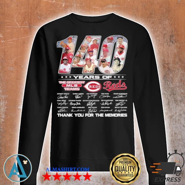 140 years of the greatest teams reds signature s Unisex sweatshirt