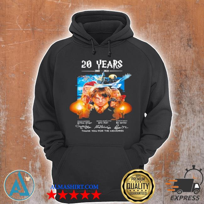 20 years of 2001 2021 thank you for the memories Harry Potter s Unisex Hoodie