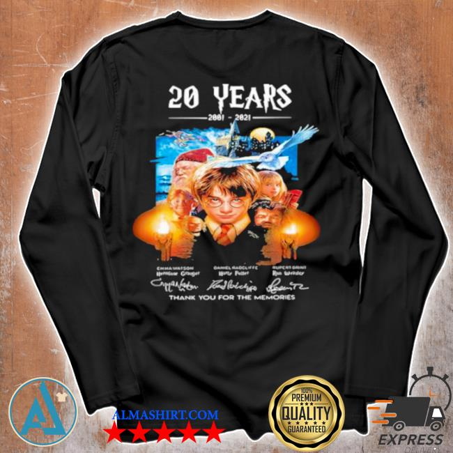 20 years of 2001 2021 thank you for the memories Harry Potter s Unisex longsleeve