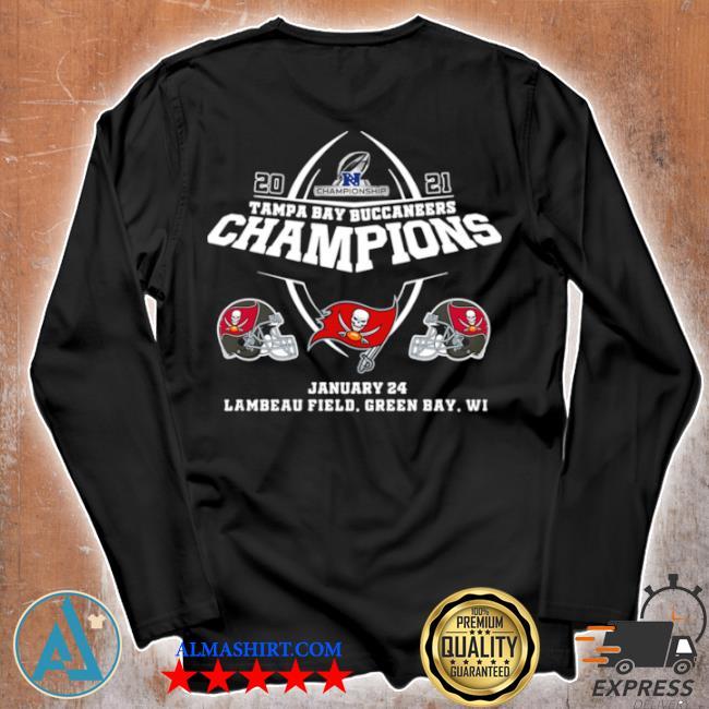 2021 championship tampa bay buccaneers champions january 24 lambeau field green bay wI s Unisex longsleeve