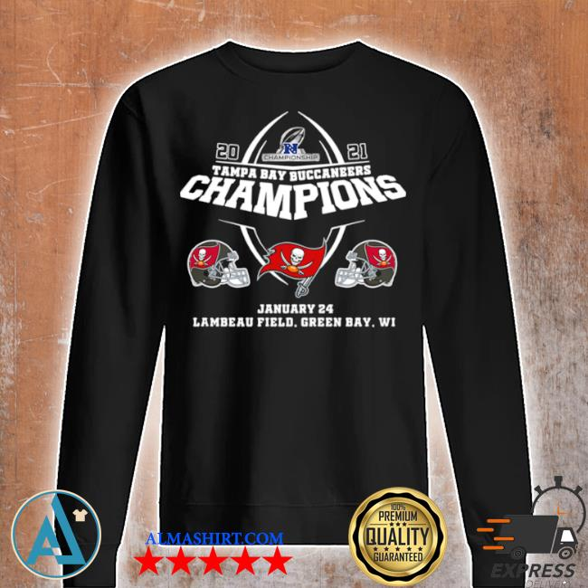 2021 championship tampa bay buccaneers champions january 24 lambeau field green bay wI s Unisex sweatshirt