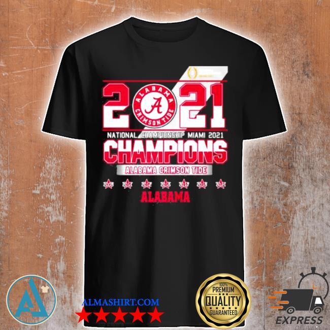 2021 national championship miamI alabama crimson tide shirt