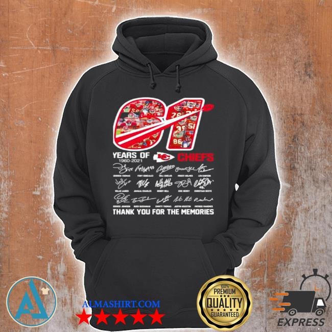 61 years of Chiefs 1960 2021 signature s Unisex Hoodie