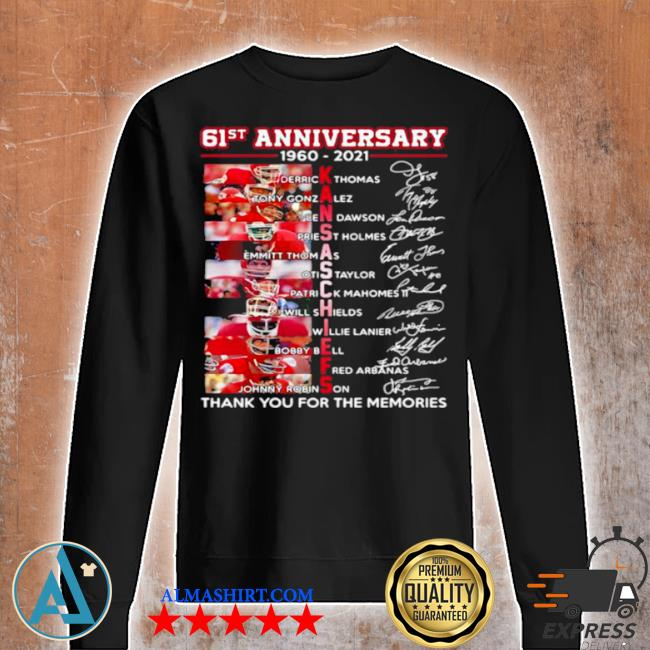 61st anniversary 1960 2021 Kansas Chiefs signature s Unisex sweatshirt