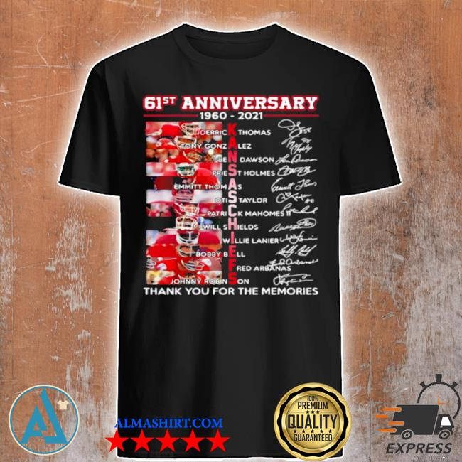 61st anniversary 1960 2021 Kansas Chiefs signature shirt