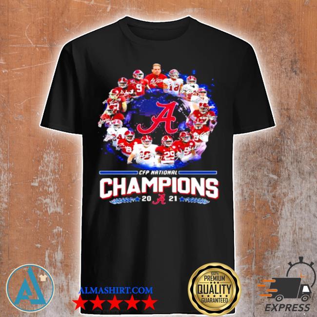 Alabama crimson tide football playoff national champions 2021 shirt