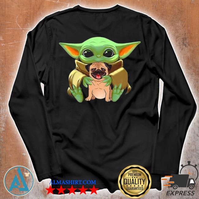 Baby Yoda hug pug dog 2021 s Unisex longsleeve