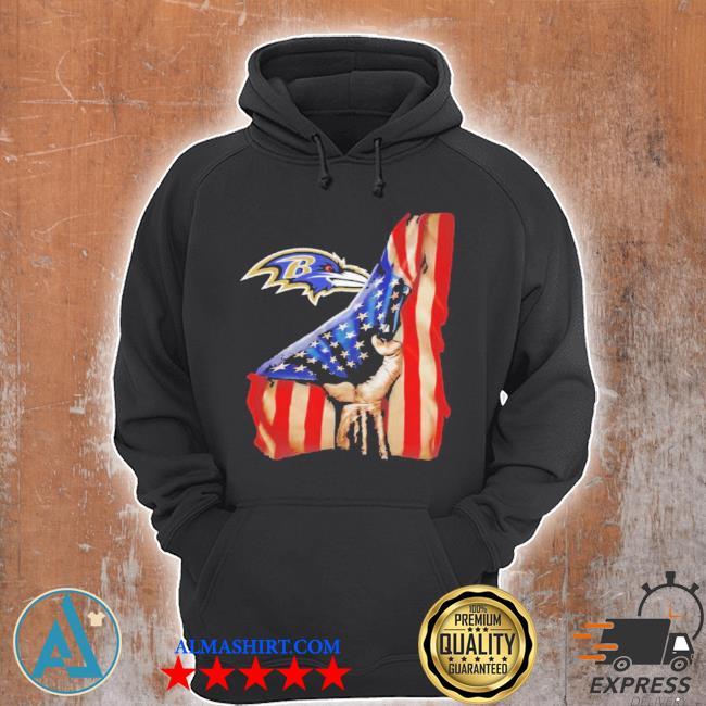 Baltimore ravens American flag s Unisex Hoodie