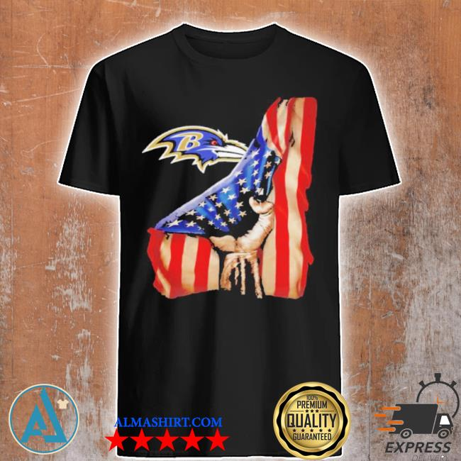 Baltimore ravens American flag shirt