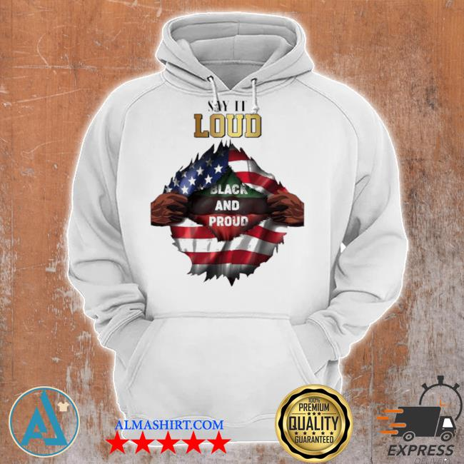 Blood in side me say it loud black and proud 2021 flag s Unisex Hoodie