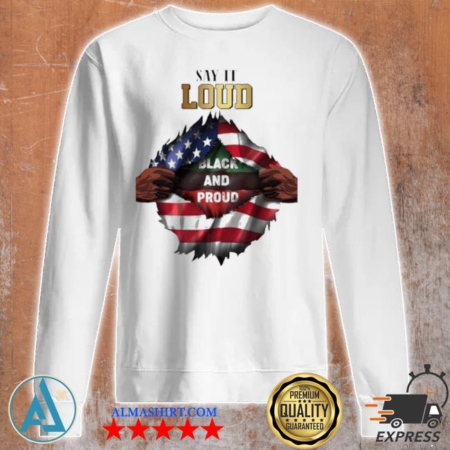 Blood in side me say it loud black and proud 2021 flag s Unisex sweatshirt