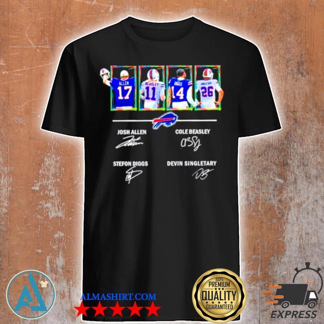 Buffalo Bills allen beasley diggs and singletary signatures shirt