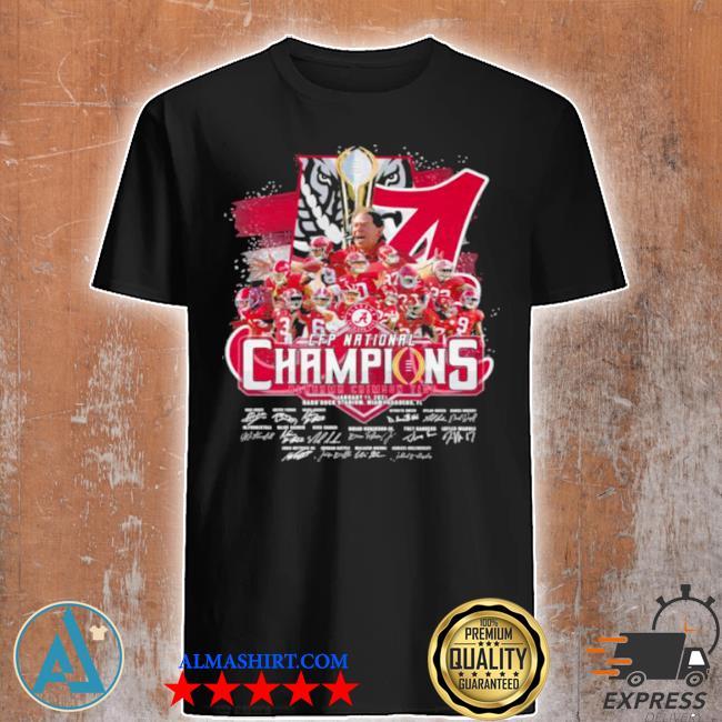 Cfp national champions 2021 alabama team football shirt
