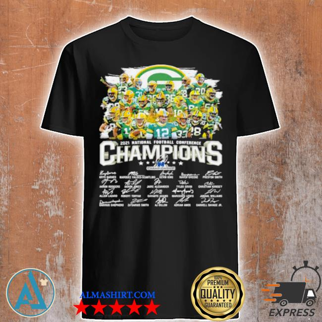 Champions national football conference green bay packers signature shirt