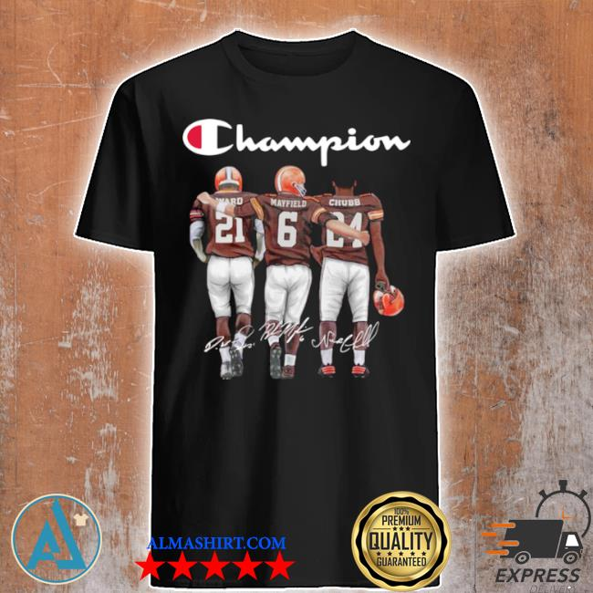 Cleveland browns champion mayfield chubb signatures shirt