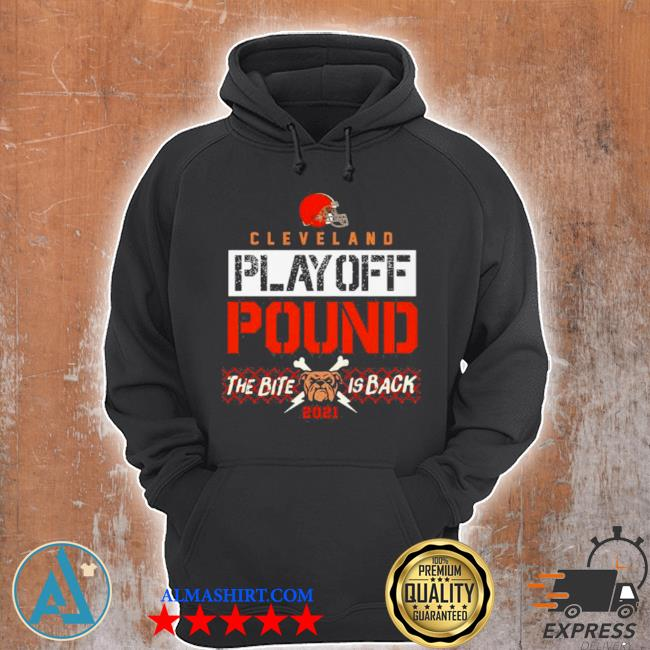 Cleveland playoff poud the bite is back dog 2021 s Unisex Hoodie
