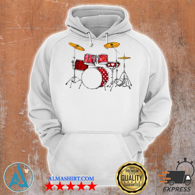 Drum band music valentine's day s Unisex Hoodie