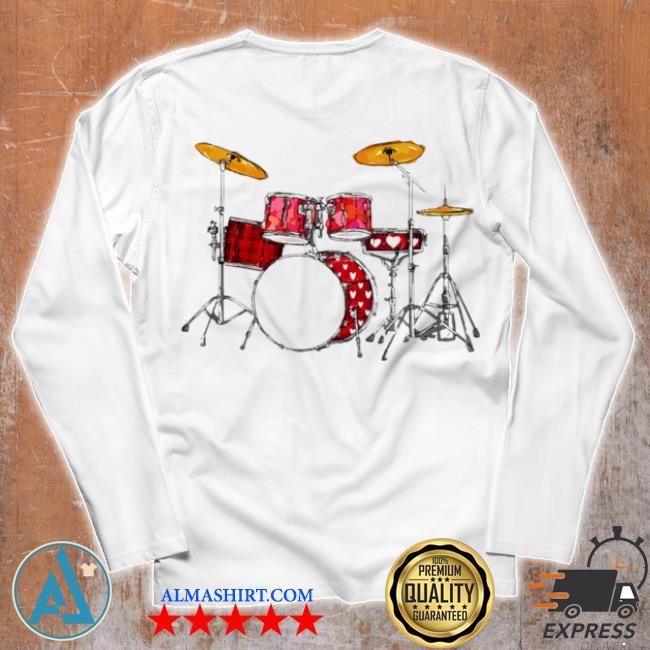 Drum band music valentine's day s Unisex longsleeve