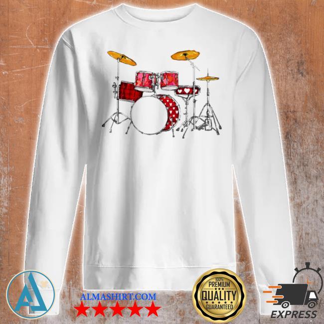 Drum band music valentine's day s Unisex sweatshirt
