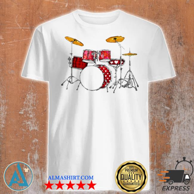 Drum band music valentine's day shirt