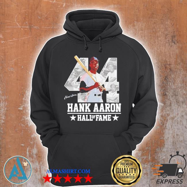Hank aaron 44 hof milwaukee atlanta baseball jersey hammer aaron s Unisex Hoodie