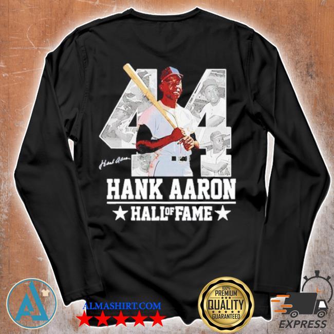 Hank aaron 44 hof milwaukee atlanta baseball jersey hammer aaron s Unisex longsleeve