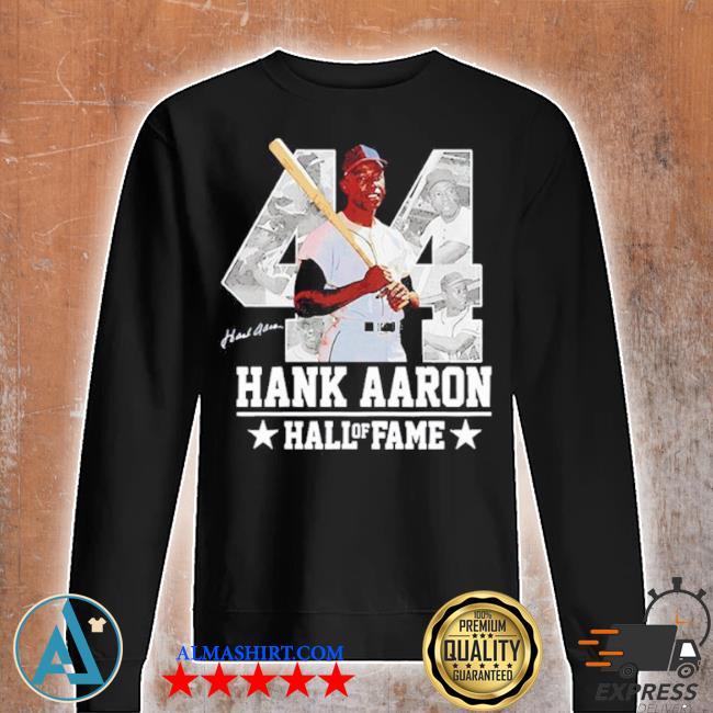 Hank aaron 44 hof milwaukee atlanta baseball jersey hammer aaron s Unisex sweatshirt