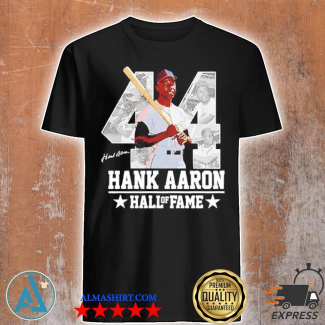 Hank aaron 44 hof milwaukee atlanta baseball jersey hammer aaron shirt