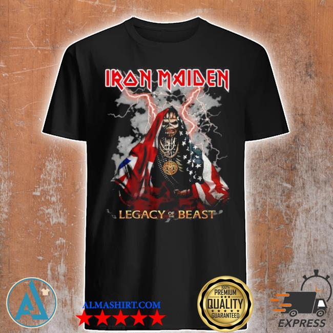 Iron maiden legacy of the beast American flag shirt