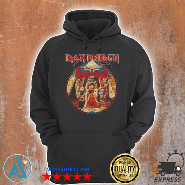 Iron maiden powerslave lightning circle s Unisex Hoodie