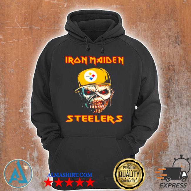 Iron maiden wear hat logo Steelers football s Unisex Hoodie