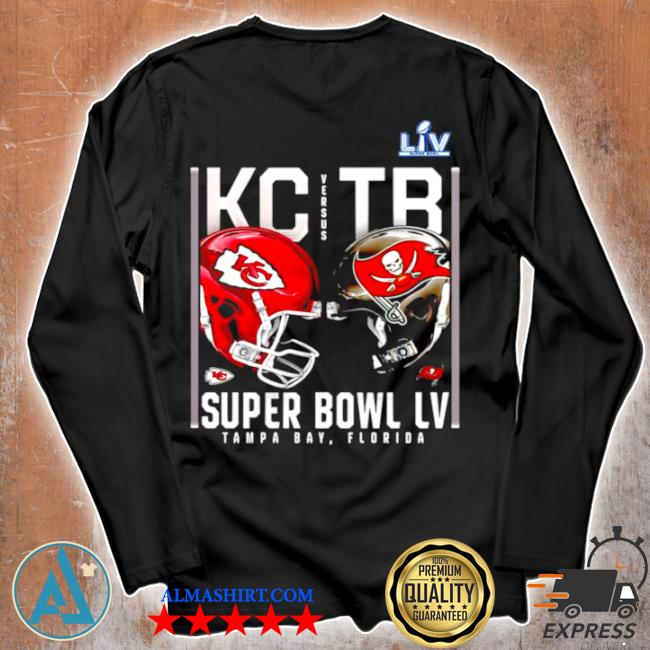 Kansas city Chiefs and tampa bay buccaneers super bowl lv s Unisex longsleeve