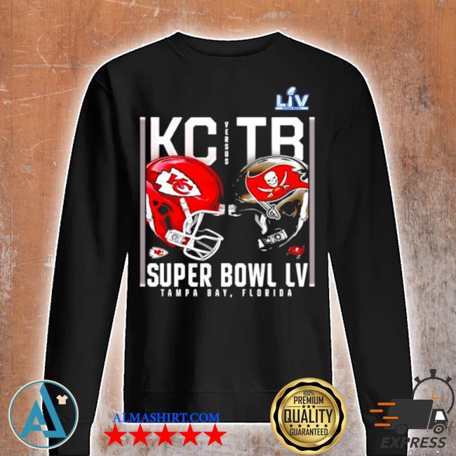 Kansas city Chiefs and tampa bay buccaneers super bowl lv s Unisex sweatshirt