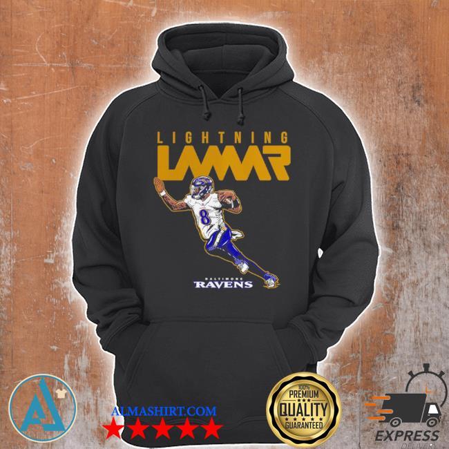 Lamar jackson baltimore ravens lightning lamar s Unisex Hoodie