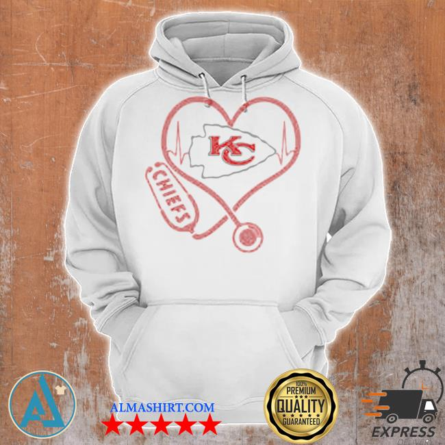 Love Chiefs heart beat medical s Unisex Hoodie