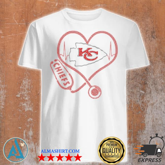 Love Chiefs heart beat medical shirt